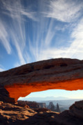 Utah Framed Prints - Mesa arch sunrise in Canyonlands National park Framed Print by Pierre Leclerc