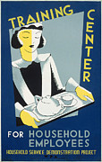 Silkscreen Art - New Deal: Wpa Poster by Granger