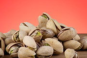 Wooden Table Prints - Pistachios  Print by Blink Images