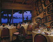 Beachfront Posters - Restaurant Poster by Robert Pisano