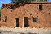 Haunted House Photos - Santa Fe - Adobe Building by Frank Romeo