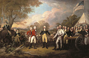 Revolutionary Framed Prints - Saratoga: Surrender, 1777 Framed Print by Granger
