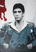 Brian De Palma Framed Prints - Scarface Framed Print by Luis Ludzska