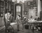 Offices Photo Framed Prints - Silent Film Still: Offices Framed Print by Granger