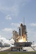 Space Shuttle Atlantis Lifts Print by Stocktrek Images