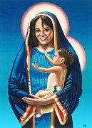 Religious Art Paintings - The Madonna of Puerto Nuevo by Charles Ragsdale