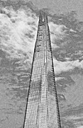 London England  Digital Art - The Shard by David Pyatt