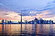 Evening Framed Prints - Toronto skyline Framed Print by Elena Elisseeva