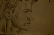 Chris Evans Drawing Drawings - Untitled by Alejandro Saavedra