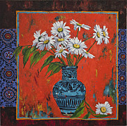 Gerbera Paintings - Untitled by Mahtab Alizadeh