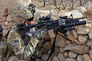 Scrutiny Photos - U.s. Army Soldier Provides Security by Stocktrek Images