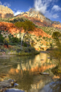 Mesas Photo Prints - Zion National Park Utah Print by Utah Images