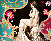 Vintage Mixed Media Prints - Goddess Print by Chris Andruskiewicz