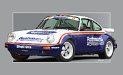 Prodrive Framed Prints - 911 Porsche 911 Sc Rs Framed Print by Alain Jamar