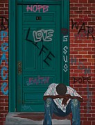 Homeless Painting Posters - 911 Poster by Viveca Mays