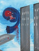 Plane Paintings - 911 - WTC Tragedy by Latoya Smile