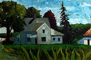 Farm Fields Paintings - 930 A M 400e 400n by Charlie Spear