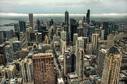 Noah Photo Framed Prints - 96 Floors Up Above Chicago Framed Print by Noah Katz
