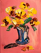 Black History Paintings - Flowers by Mark Kazav