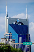 Nashville Photo Metal Prints - 9th Avenue ATT Building Nashville Metal Print by Susanne Van Hulst
