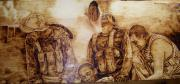 On Wood Pyrography Pyrography - 9th Company by Michin Bouick