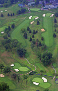 Sunnybrook Golf Club Aerials By Duncan Pearson Originals - 9th Hole Sunnybrook Golf Club 398 Stenton Avenue Plymouth Meeting PA 19462 1243 by Duncan Pearson