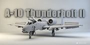 Cinema 4d Prints - A-10 Thunderbolt II Print by Dale Jackson