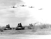 Wwii Photo Posters - A-1h Aircraft Make A Low Level Pass Poster by Stocktrek Images