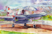 Vintage Aircraft Paintings - A-4...Identified Unflying Object. by John Ressler
