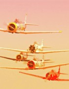 Motorsports Originals - A-6 Texan Posse by Gus McCrea
