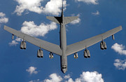 B-52 Posters - A B-52 Stratofortress Poster by Stocktrek Images