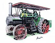 Antique Tractor Posters - A B Farquhar Poster by Ferrel Cordle