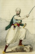 Bloomers Prints - A Barbary Pirate Captain. Ca. 1800 Print by Everett
