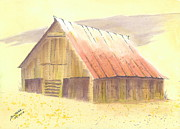 Old Barns Paintings - A Barn for the Ladies by Joel Deutsch