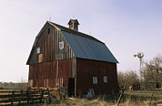 Agricultural Structures Posters - A Barn On A Farm In Nebraka Poster by Joel Sartore