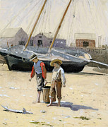 Fishermen Paintings - A basket of clams by Stefan Kuhn