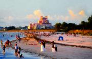 Saint Petersburg Prints - A Beach Scene Print by David Lee Thompson