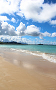 A Beautiful Day At Kailua Beach Hawaii Print by Kerri Ligatich