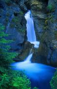 Johnston Framed Prints - A Beautiful Waterfall, Johnston Canyon Framed Print by Don Hammond