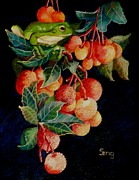 Amphibians Pastels - A Berry Good Time by Sandra Sengstock-Miller
