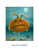 Halloween Paintings - A big night for pumpkins... by Will Bullas