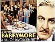 Lobbycard Prints - A Bill Of Divorcement, John Barrymore Print by Everett