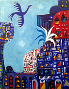 Old Iraqi City Paintings - A Bird In The City by Yahya Batat