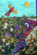 Butterflies Tapestries - Textiles - A Birds Eye of the Rain Forest by Maureen Wartski