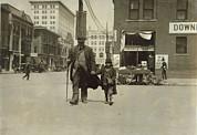 Lewis Wickes Hine Prints - A Blind Man And His Youthful Guide Print by Everett