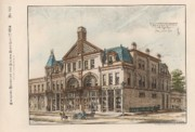 Block Painting Prints - A Block of Stores to be Erected. Grand Rapids Michigan 1884 Print by Sidney Osgood