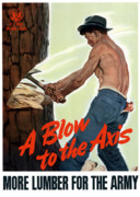 Blow Digital Art Prints - A Blow To The Axis Print by War Is Hell Store