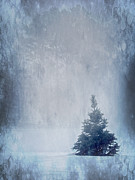 Backdrop Digital Art Originals - A Blue Christmas by Melissa Smith