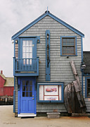 Planter Posters - A Blue Door Rockport Massachusetts Poster by Michelle Wiarda