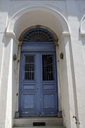 Entrance Door Photos - A Blue Door - Samos I by Christiane Schulze